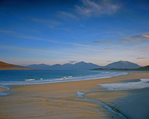 Seilebost beach, isle of Harris in the outer hebrides