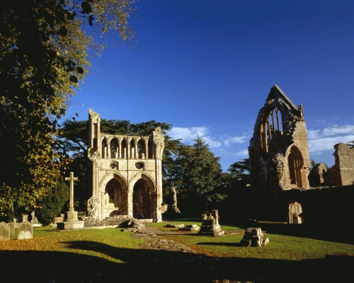 Dryburgh Abbey, Scottish Borders is the resting place of Sir Walter Scott and Earl Haig