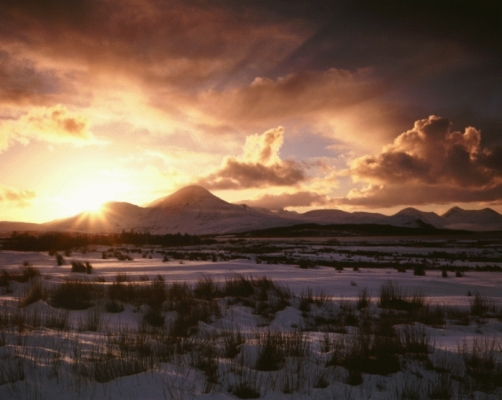 The red cuillin in midwinter