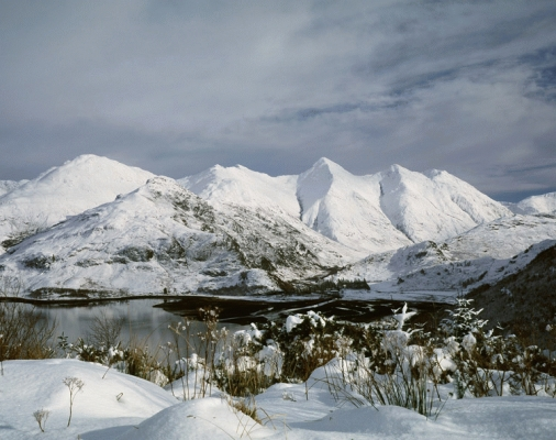 The five sisters of Kintail in winter