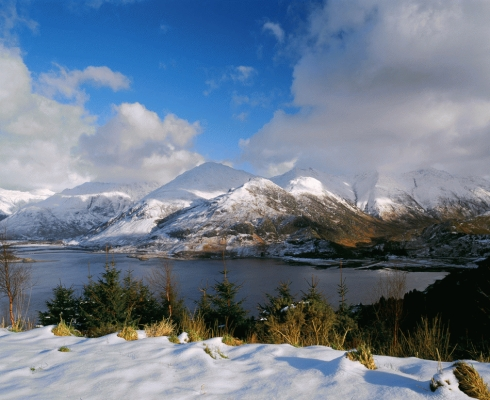 The five sisters of Kintail in winter 3