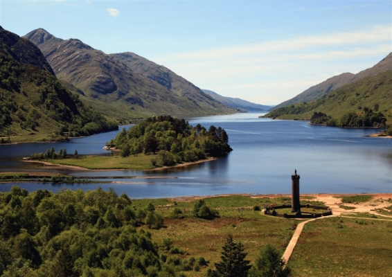 The Jacobite monument at Glenfinnan