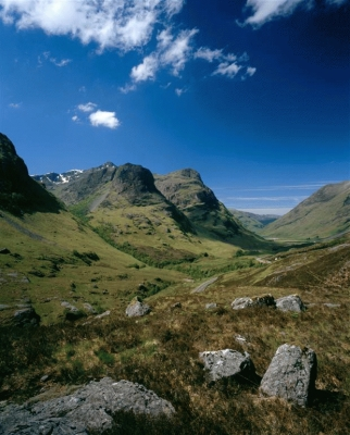 A portrait view of the three sisters of Glencoe