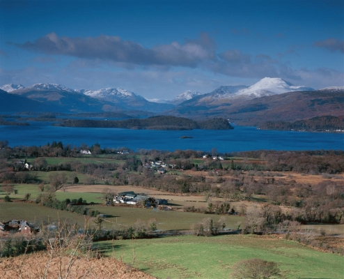 Loch Lomond from Duncryne hill in winter