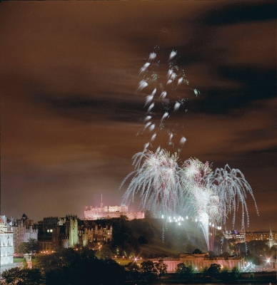 Edinburgh Fireworks at the castle