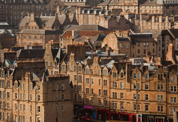 Edinburgh City centre tenements