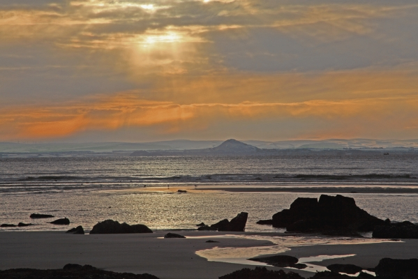 East Lothian coast from Elie Beach