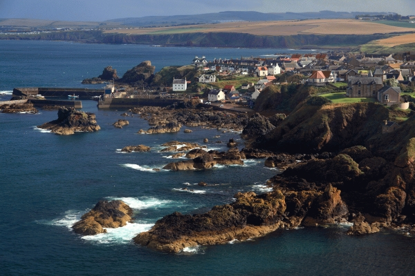 St Abbs on the Berwickshire coast