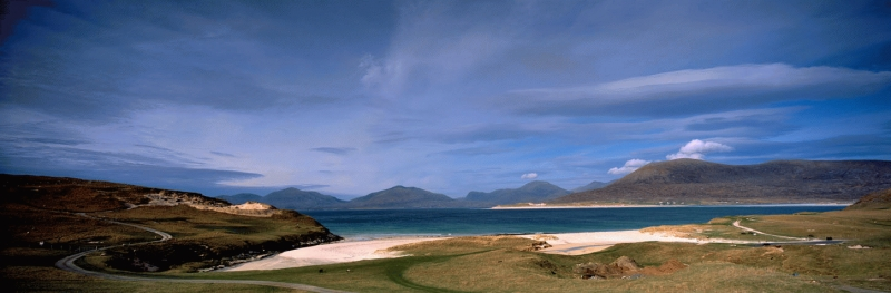 Horgabost beach and the South Harris hills