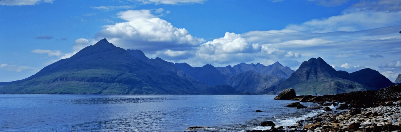 The Cuillin mountain range from Elgol