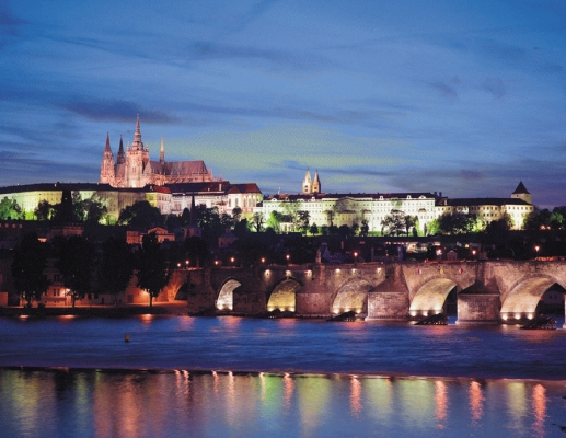 Czech Republic: Charles Bridge and Vltava river