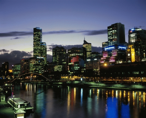 Twilight in Melbourne, Victoria, Australia