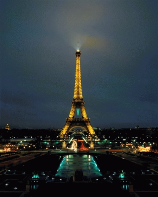 France:The Eiffel Tower at twilight, Paris