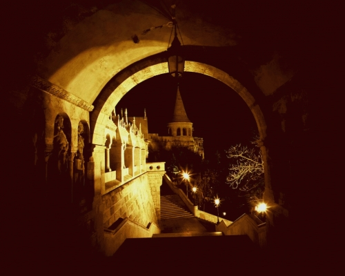 Hungary: Fisherman's Bastion in Buda, Budapest.