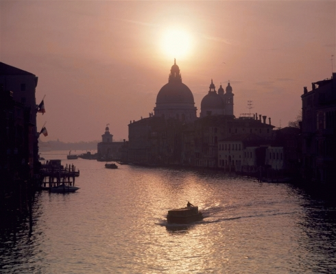 Italy: The Grand Canal and the Salute Church from the Academia bridge 5