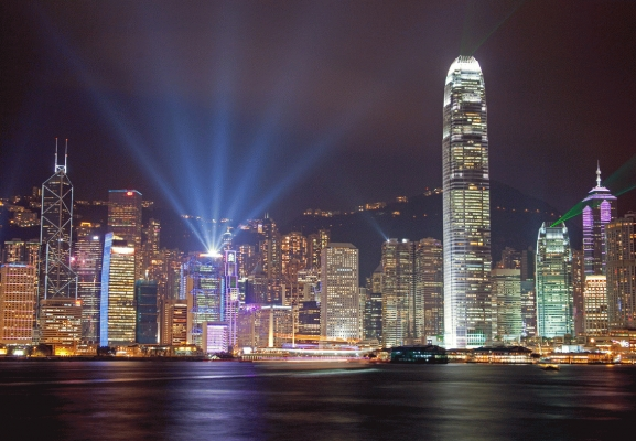 Hong Kong Harbour at night 2