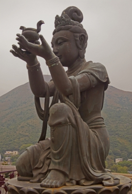 Statue at Big Buddha 2, Hong Kong
