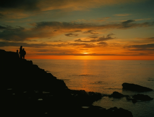 N. Ireland: The Giant's Causeway at sunset