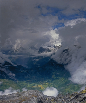 Norway: Geiranger Fjiord, from Dalsnibba