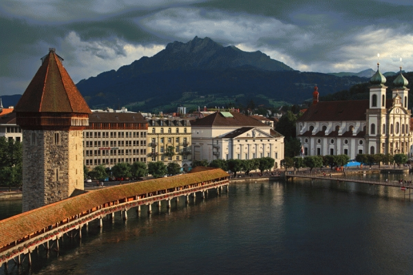 Switzerland: The city of Lucerne