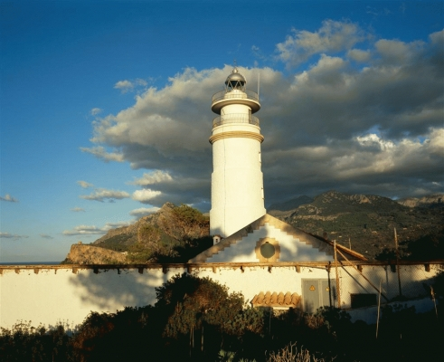 Spain: The lighthouse at Port Soller, Majorca