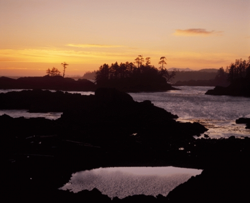 Canada: sunset at Ucluelet, Vancouver Island