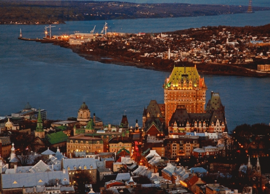 Canada:  Quebec city and the St Lawrence river