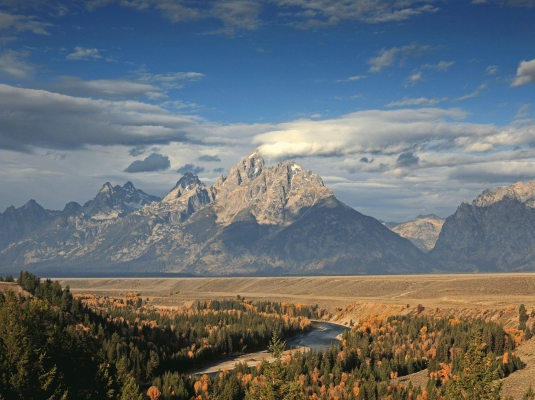USA: The Tetons from Snake river overlook 2