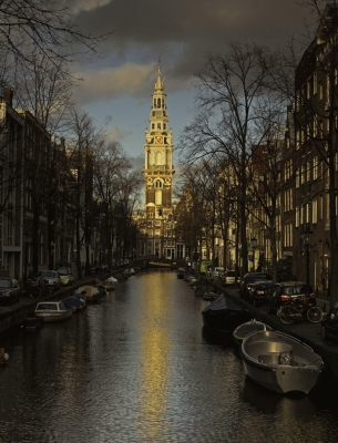 The Netherlands: Zuiderkerk in winter, Amsterdam