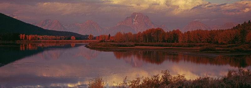 USA: Oxbow Bend, Snake River,  Grand Teton National Park, Wyoming.