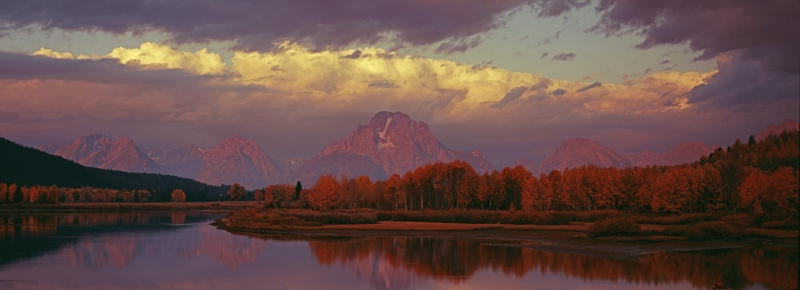 USA: Oxbow Bend, Snake River pano 2, Grand Teton National Park, Wyoming