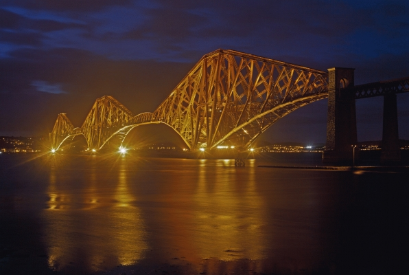 The railway bridge over the river Forth
