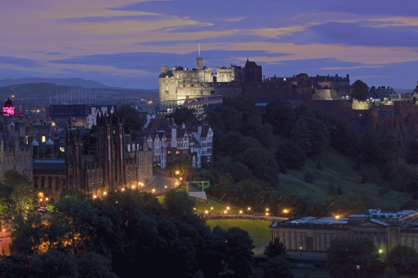 Edinburgh Castle at twilight