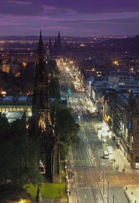 Princes Street, Edinburgh at night