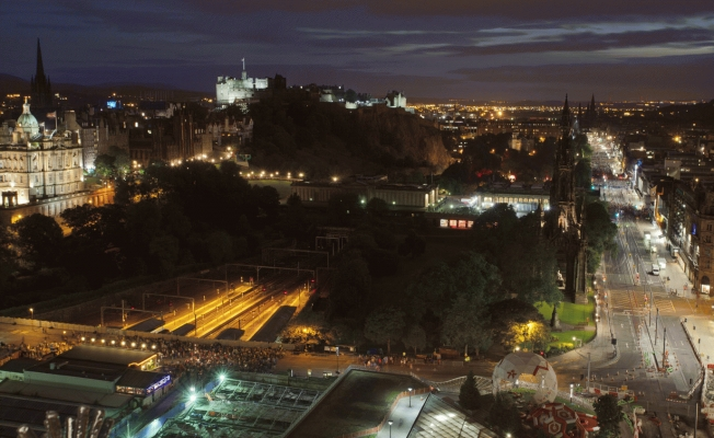 Edinburgh city at night
