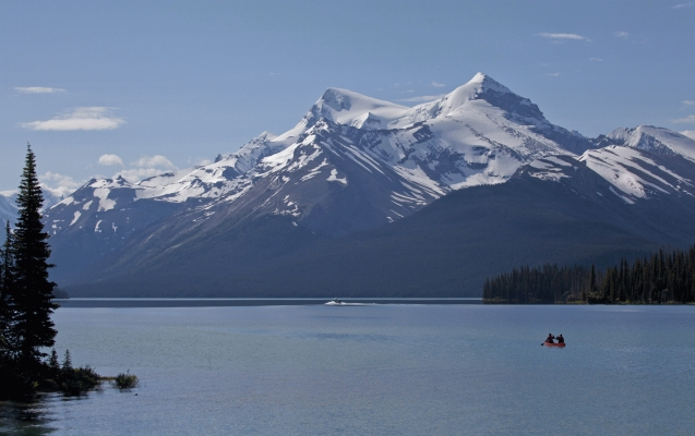 Canoe on Maligne Lake, Jasper National Park!special addition