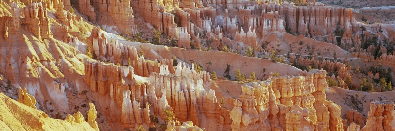 Bryce Canyon, The Silent City and Navajo trail panorama