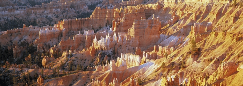 Panorama of The Queen's Garden from Sunrise Point, Bryce Canyon, Utah, USA